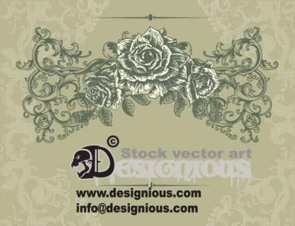 free vector Free Floral Vintage Illustration