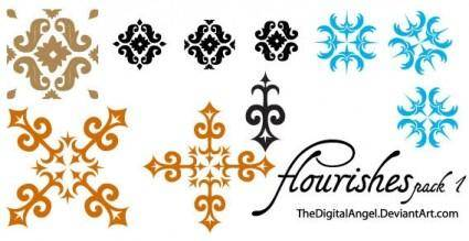 Flourishes free vector pack