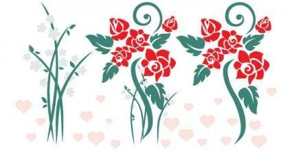 free vector Love flowers vector