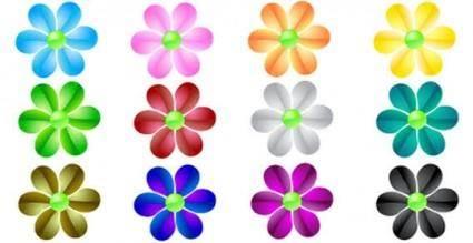 free vector Glass flower vector