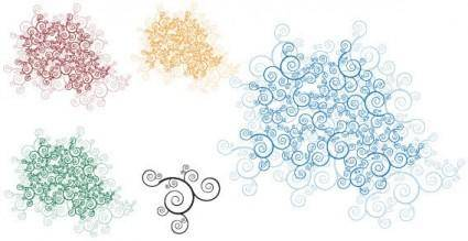 Swirl ornaments free vector