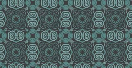 Bluish seamless floral wallpaper