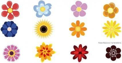 free vector Flower resources