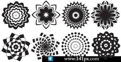 free vector Abstract flowers vector