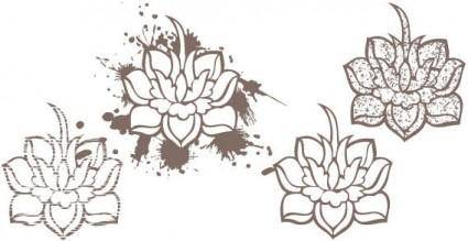 Lotus flowers vector
