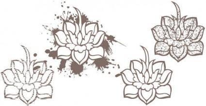 free vector Lotus flowers vector
