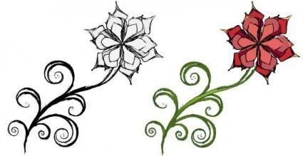 free vector Spiral leaf flower vector