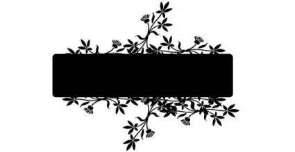 Banner with flower vector
