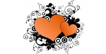 Valentine hearts vector