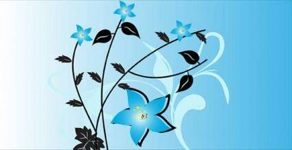Flowers free vector background