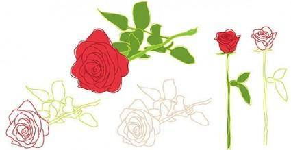 free vector Vector rose