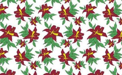 free vector Free seamless flower pattern
