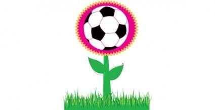 free vector Soccer flower vector