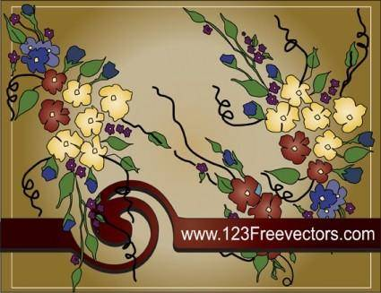 free vector Flower text frame vector