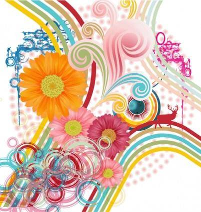 free vector Abstract flower background