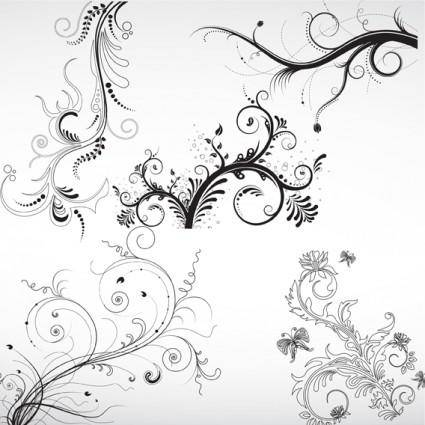 free vector Floral Ornaments Vector Pack