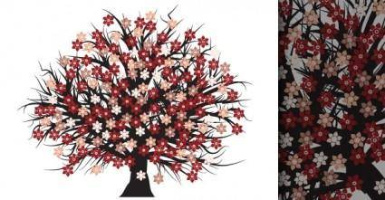 free vector Free Blossomed Tree