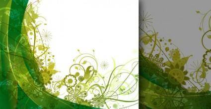 free vector Free green vector summer background