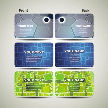 free vector Dynamic technology business card template 02 vector