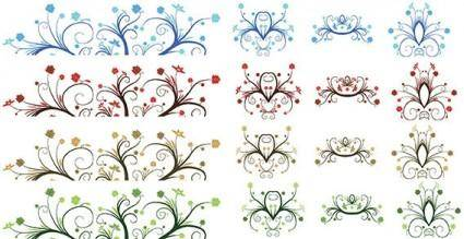 free vector Vector - Curly Leaf Ornaments