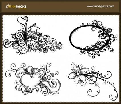 free vector Free Hand Drawn Vector Ornaments