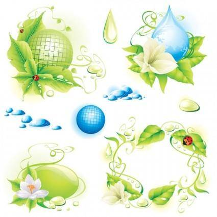 Theme of environmental protection 01 vector