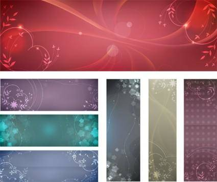 free vector Free flowery vector backgrounds