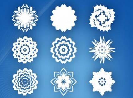 free vector 15 abstract flowers