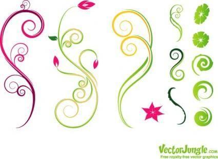 free vector Vines_flowerset8