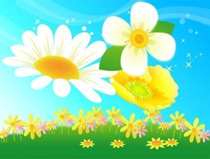 free vector Free Vector Flowers 08