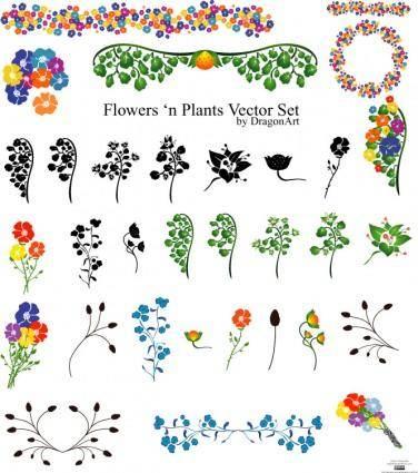 Vectors - Flowers set