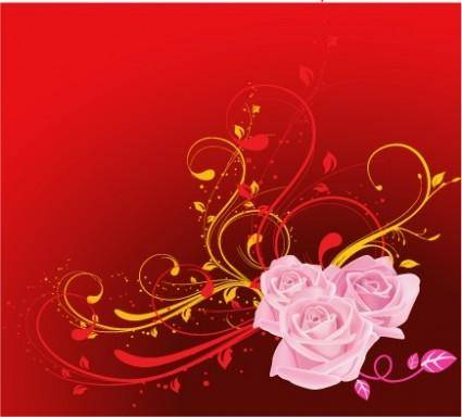 free vector Free Vector Flowers 03