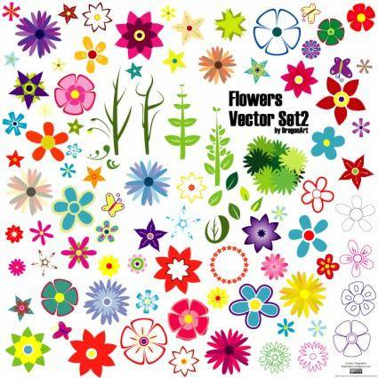 free vector Flowers Set
