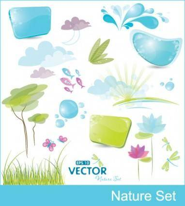 free vector Cute vector elements vector
