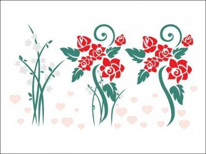 free vector Love Flowers