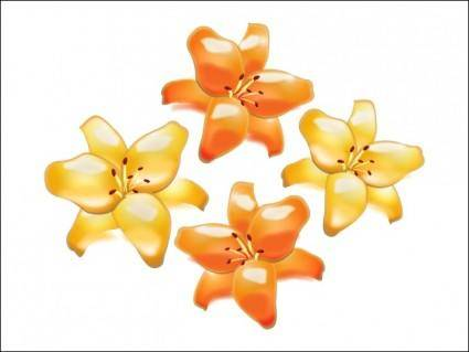 free vector Lillies