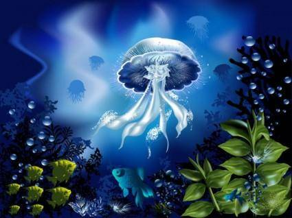 Magnificent underwater world 04 vector