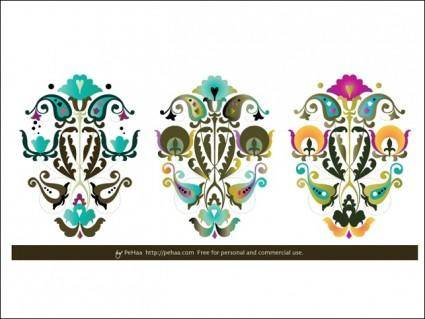 free vector Folk Paper Cuts