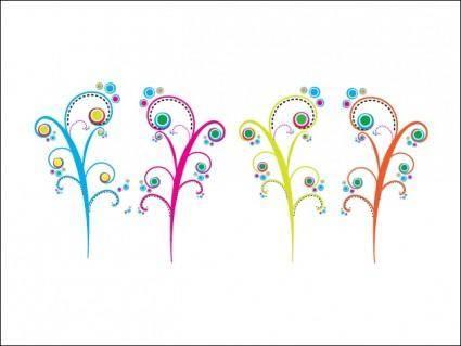 free vector Colorful Swirls
