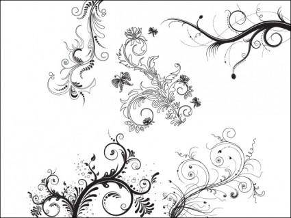 free vector 5 Floral Ornaments
