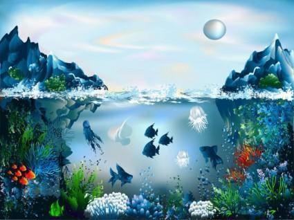 Magnificent underwater world 03 vector