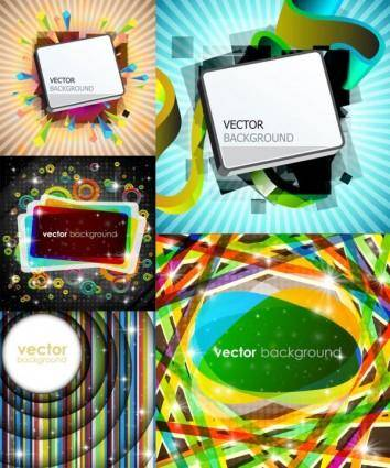 Gorgeous bright rectangular graphics vector