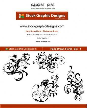 Hand Drawn Floral 21520
