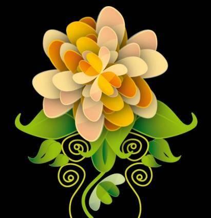 free vector Art Flower