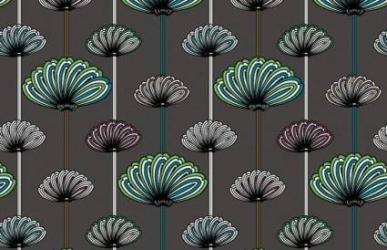 free vector Flower wallpaper vector patterns