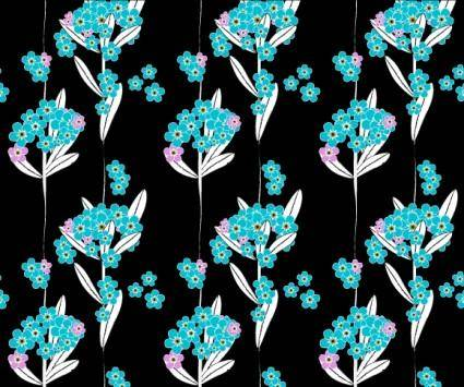 free vector Forget me not pattern
