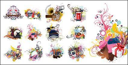 free vector Number of items with the trend of the pattern vector material-2