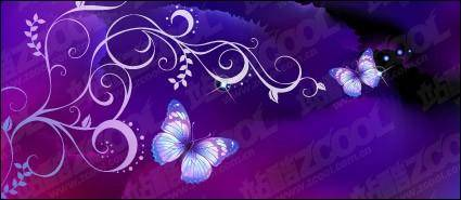 Purple Butterfly Dream background and patterns