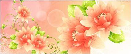 Dream with flowers vector background