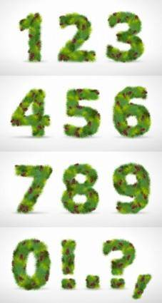free vector Composed of pine numbers vector